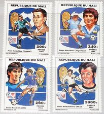 MALI 1994 1196-99 A 604-07 Soccer World Cup USA Fußball WM Football Player MNH