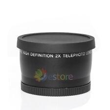 55MM 2.0X  Tele Telephoto Converter lens for Nikon D80 D7000 D3100 D3200 D5100