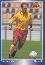 N°096 STEPHANE MAZZOLINI OM MARSEILLE CARTE PANINI FOOTBALL 95 FRANCE CARDS 1995
