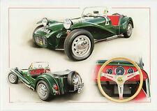 Lotus Super Seven Cosworth  British Sports Car Dugan art Large  greeting card