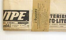 Journal l'Equipe n°3213 du 3  Août 1956 avec bande d'expédition