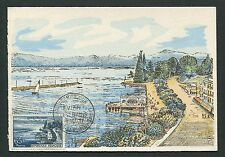 FRANCE MK 1957 EVIAN-LES-BAINS MAXIMUMKARTE CARTE MAXIMUM CARD MC CM d4880