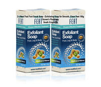 2 x Neat Feat Foot Scrub Soap Exfoliating Soap for Smooth, Clean Feet 150g =300g
