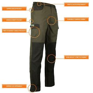 Game Mens Forrester Hunting Hiking Breathable Water Repellent Trousers - HB402