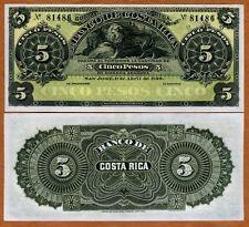 Costa Rica, 5 Pesos, 1899, P-S163r, UNC > Lion