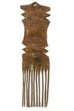 Art Africain - Ancien Peigne Akan Ashanti en Bronze - African Comb - 24 Cms ++++