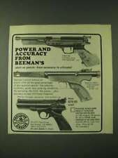1980 Beeman Airguns Ad - FWB 80, 850 and Webley Tempest - Power and accuracy