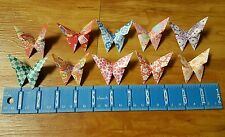 "100 Chiyogami Paper Origami Wedding Butterflies, Butterfly Favors  3""x 3"" Lot #2"