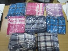 NEW 40 CHECKERED SCARF/SHAWL IN VARIOUS COLOURS - PINK/BLUE/PURPLE/BLUE+GREY