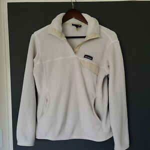 Patagonia Womens Re-Tool Snap-T Fleece Pullover Size medium oatmeal