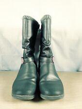 Disney Princess girls mid calf slouch boot silver pink hearts sz 12