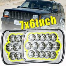 """Brightest 180W 7X6"""" 5X7"""" LED Headlight High Low For Chevrolet Jeep Cherokee XJ"""