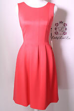 Calvin Klein New Watermelon Pleated Fit and Flare Dress CD6M1A6U Size 4 6 8 NWT