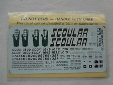 The Herald King HO Decals PR 138 Yellow Cylindrical Hopper Scoular SCOX Sealed