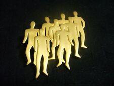 1988 JJ Jonette Brushed Goldtone Metal Group of Men Brooch Pin