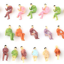 10pcs Muticolor Painted Figure People Z Scale Train 1:200 Layout Seated Model