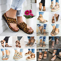 Women Flat Ankle Strap Open Toe Buckle Pointed Sandals Casual Shoes Pumps Size