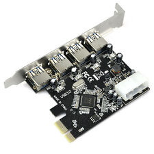 FAST USB 3.0 PCI-E PCIE 4 PORTS Express Expansion Card Adapter I6N9