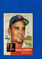 1953 Topps Baseball CARD #94 WILLIAM KENNEDY EX-MT BOSTON RED SOX NO CREASE