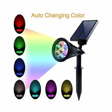 Solar Lights  Spotlights Color-changing 7 LED Solar Powered 2-in-1 Adjustable