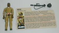 1983 GI Joe Army Medic Doc Dr Doctor v1 Figure w/ File Card *Not Complete READ*