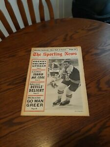 FEBRUARY 3,1968-THE SPORTING NEWS-PHIL ESPOSITO OF THE BOSTON BRUINS(EXC)