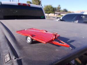 Vintage CARTER Tru Scale Flatbed Tilt Implement Winch Trailer Farm Toy  1/16