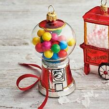 SUR LA TABLE Old Fashion GumBall Candy Ornament Glass handmade American Theme