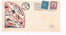 1932 LA Olympics FDC Scott #718-719 with an Ioor cachet