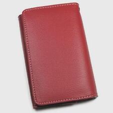 Housse Etui Portefeuille aspect cuir rouge pour NOKIA 216