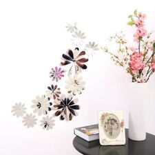 ~12pcs PVC 3D mirror flower sticker Art Decor butterflies  wall stickers