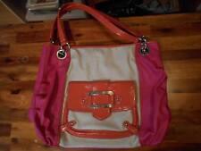 NINE  WEST Faux Leather/Nylon Shoulder Handbag Purse Long Adjustable strap