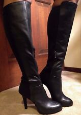 NWT-JESSICA SIMPSON AVALONA LEATHER/SPANDEX BACK KNEE BOOTS 6-SEXY!