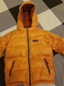 Patagonia down filled jacket. Size 4T orange. Gently worn