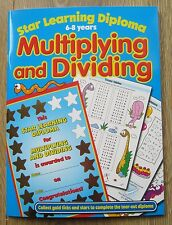 Year 2 / 3 Multiplication Division Maths Activity Book Homework School age 6 7 8