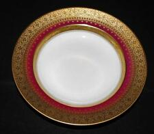 Faberge Imperial Heritage Burgundy Gold Encrusted, Wide Rimmed Soup Bowl, 9 1/4""