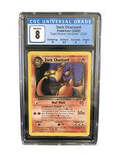 2000 Pokemon TCG Team Rocket #21 Dark Charizard Non Holo Rare Graded CGC 8++