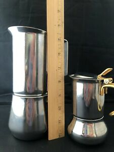 TWO ILSA Stainless Steel Stovetop Espresso Maker