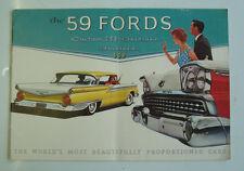 FORD Car Range Sales Brochure 1959 - Custom 300 Fairlane & Fairlane 500