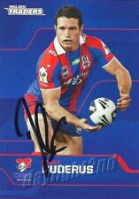 ✺Signed✺ 2013 NEWCASTLE KNIGHTS NRL Card DANNY BUDERUS