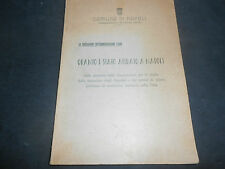 1952 COMUNE NAPOLI AMMINISTRAZIONE ACHILLE LAURO SITUAZIONE SERVIZI IGIENE