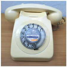 VINTAGE CREAM ROTARY DIAL CORDED PHONE TESTED WORKING