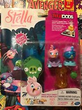HASBRO ANGRY BIRDS TELEPODS STELLA & WILLOW SLEEPOVER PACK, Pink & Blue