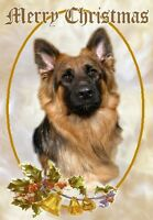 German Shepherd Dog A6 Christmas Card Design XGSD-8 by paws2print