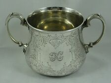 More details for stunning victorian silver sugar  bowl, 1860, 355gm