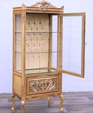 BAROCK VITRINE 1-türig SALONMÖBEL royal DISPLAY CABINET goldener VITRINENSCHRANK