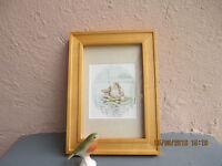 vintage framed Beatrix Potter  illustration of Jeremy Fisher