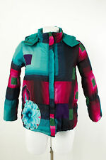 DESIGUAL Giacca Tg. 9/10 Reversibile Giacca Giacca Invernale Cappuccio Giacca trapuntata JACKET