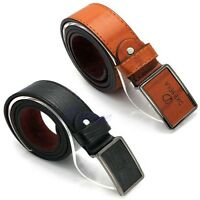 Mens Waistband Luxury Faux Leather Alloy Automatic Buckle Belt Waist Strap Belts