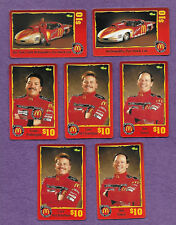 Lot of 7 -1996 Classic/Sprint McDonald's $10 Racing Team Phone Cards Unscratched